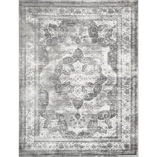 Online Reviews Brandt  Machine Woven Indoor Gray Area Rug By Mistana