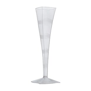 Wavetrends Wavy-Edge Plastic Disposable Champagne Flute