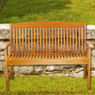 Anmoore Wood Garden Bench by August Grove