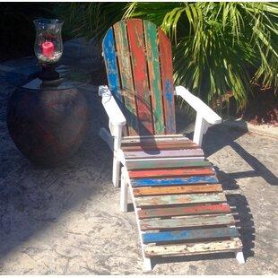 Ratcliffe Teak Adirondack Chair with Ottoman