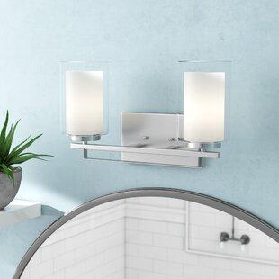 Ebern Designs Demby 2-Light Drum/Cylinder Vanity Light