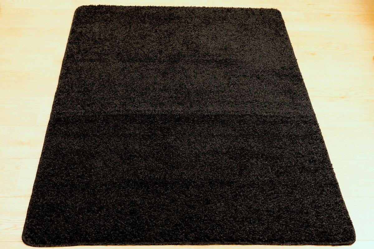castleton home teppich shaggy in schwarz bewertungen. Black Bedroom Furniture Sets. Home Design Ideas