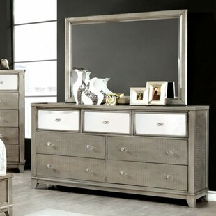 Everly Quinn Kassidy 7 Drawer Dresser with M..