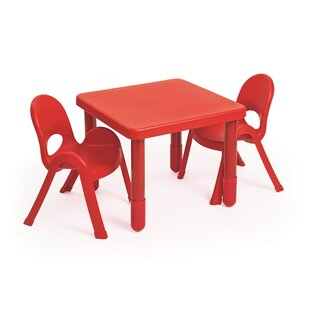 MyValue Set Kids 3 Piece Writing Table and Chair Set by Angeles