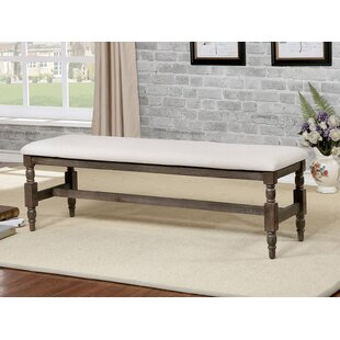Charlton Home Faunce Rustic Wood Bench