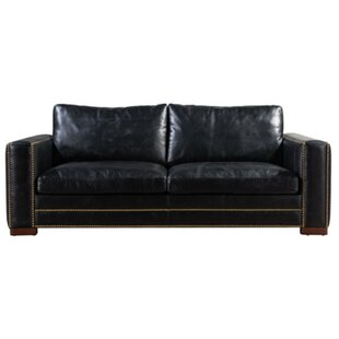 Larry Leather 3 Seater Sofa By Williston Forge