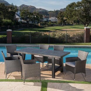 Dostal Outdoor 7 Piece Dining Set with Cushions