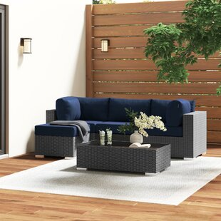 Tripp 5 Piece Sunbrella Sectional Set With Cushions by Brayden Studio Wonderful