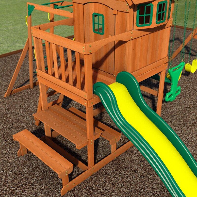 Backyard Discovery Springboro All Cedar Swing Set Wayfair