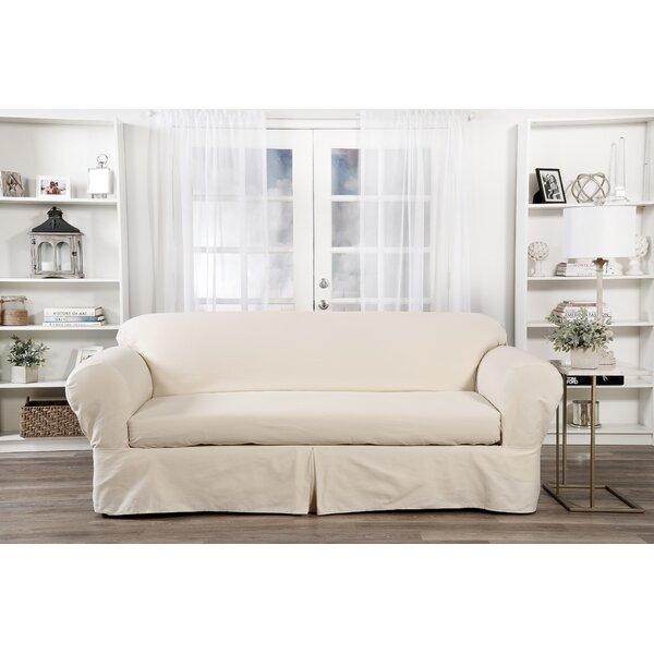 Stupendous Box Cushion Sofa Slipcover Pabps2019 Chair Design Images Pabps2019Com