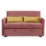 Malone Velvet 57 Square Arm Sofa Bed by Everly Quinn