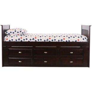 Nika Rake Twin Mate's & Captain's Bed with 6 Drawers by Harriet Bee