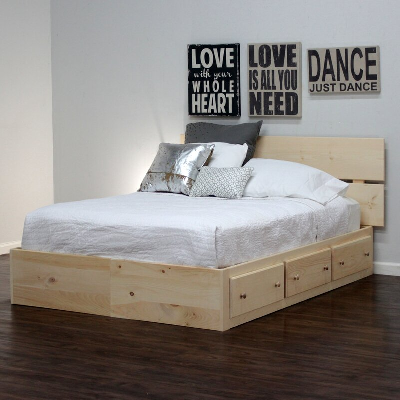 Gothic Furniture Captains Storage Platform Bed Amp Reviews
