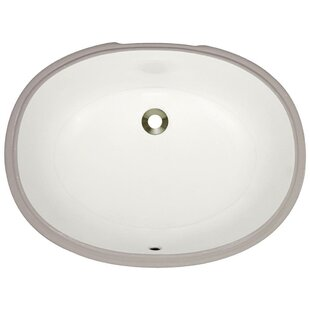 MR Direct Vitreous China Oval Undermount Bathroom Sink with Overflow
