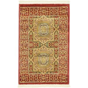 Laurelwood Red Area Rug