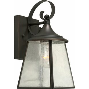 Best Reviews Mackenzie 1-Light Outdoor Wall Lantern By Charlton Home