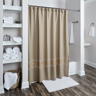 Where buy  Logan Cotton Shower Curtain By Darby Home Co