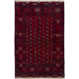 Find One-of-a-Kind Pimental Hand-Knotted 3'10 x 6'1 Wool Red/White Area Rug By Isabelline
