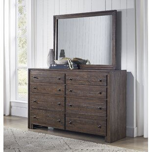 Van Reipen 8 Drawer Double Dresser with Mirror