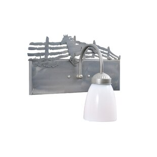 Meyda Tiffany Running Horse Left 1-Light Bath Sconce