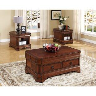 Bracamonte 3 Piece Coffee Table Set by Charlton Home