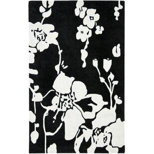 Read Reviews Modern Art Black/Ivory Rug By Safavieh