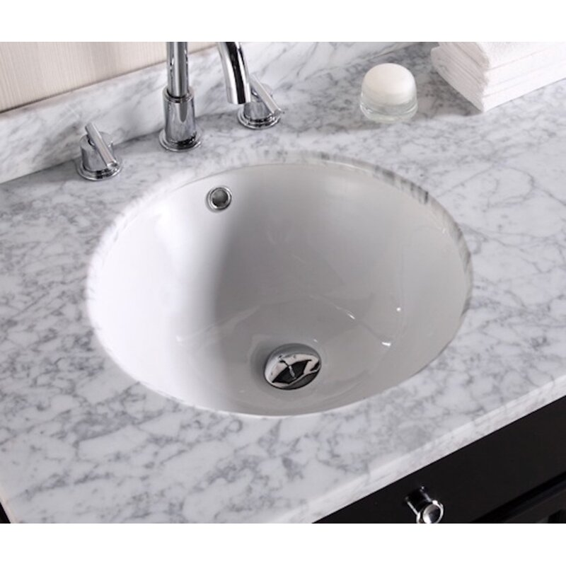 Royalpurplebathkitchen Ceramic Circular Undermount Batroom Sink With Overflow Wayfair