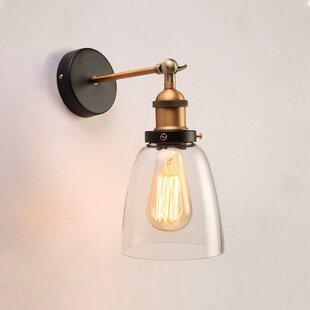Liston 1-Light Glass Wall Lamp by Breakwater Bay
