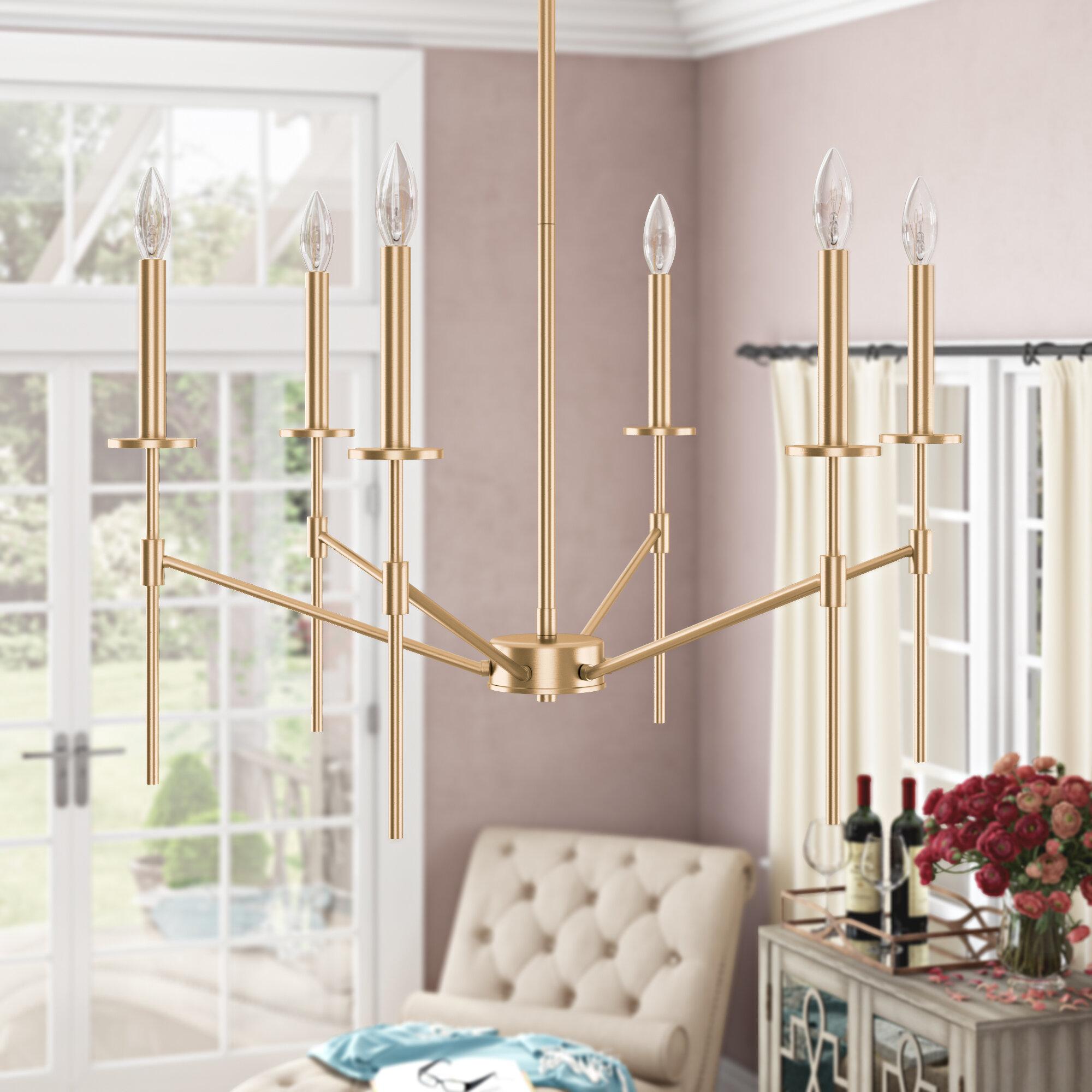 Willa Arlo Interiors Diamanta 6 Light Candle Style Classic Traditional Chandelier Reviews Wayfair