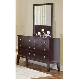 Odachowski 6 Drawer Double Dresser with Mirror