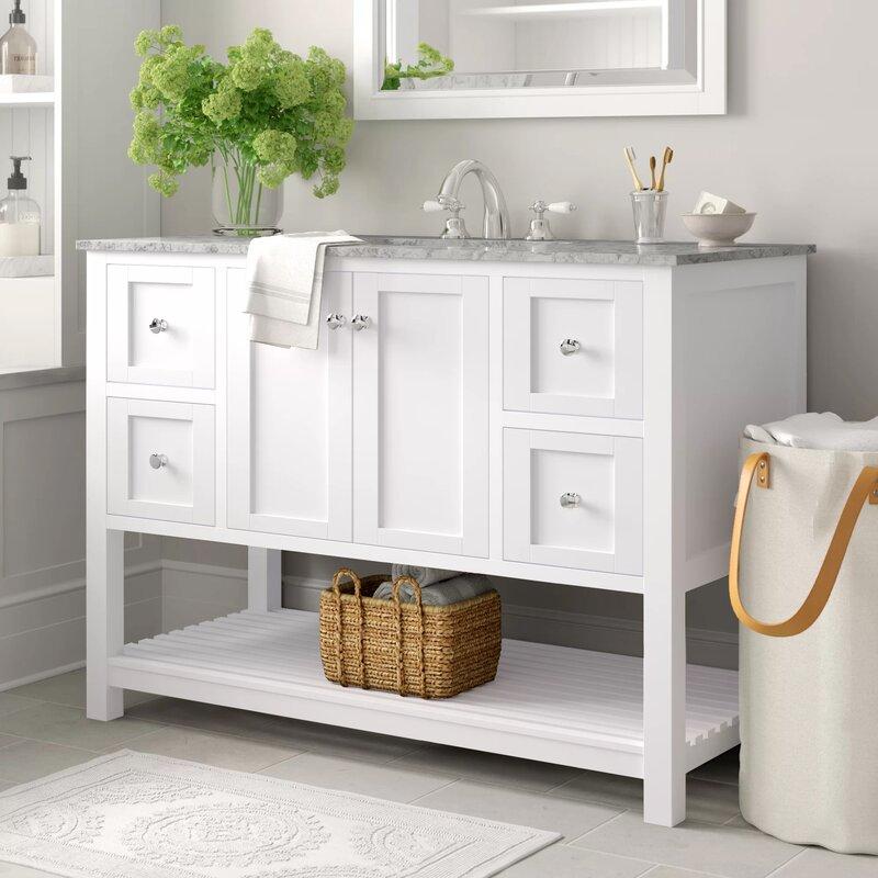 Three Posts Binne 48 Single Bathroom Vanity Set Reviews Wayfair