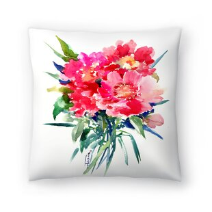 Suren Nersisyan Peonies Throw Pillow