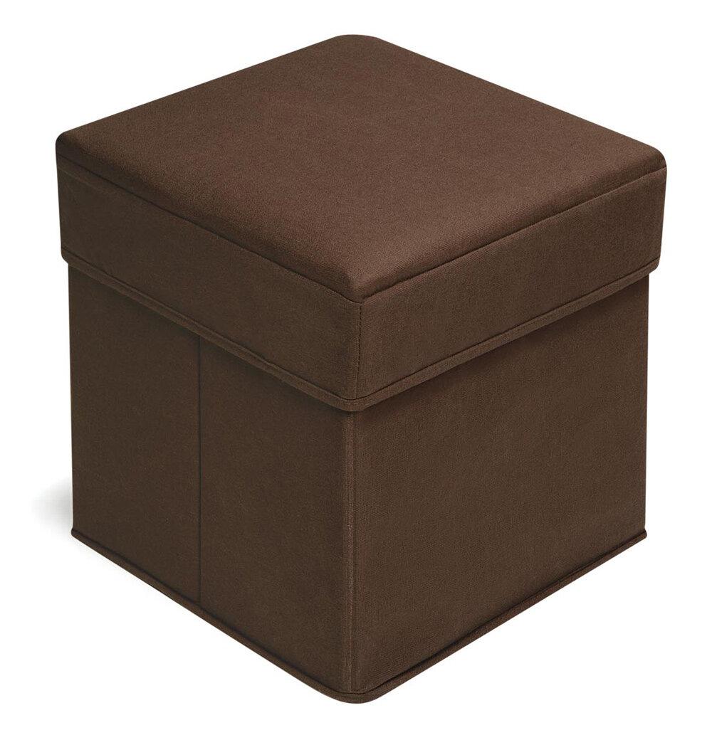 Sensational Folding Kids Cotton Cube Ottoman With Storage Compartment Machost Co Dining Chair Design Ideas Machostcouk