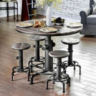 Mildred 5 Piece Pub Table Dining Set (Set of 5)