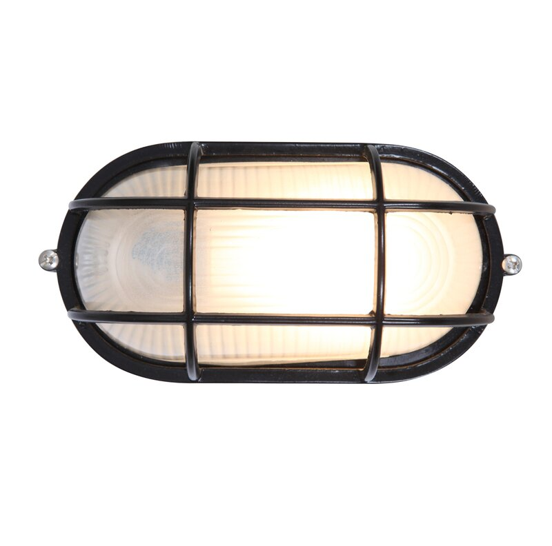 Rivka Gl Shade Outdoor Bulkhead Light