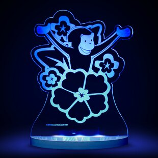 CompassCo Curious George with Flowers LED 3-Light Night Light