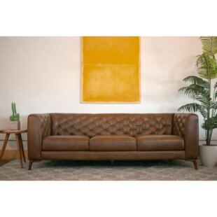 Essie Chesterfield Leather Sofa