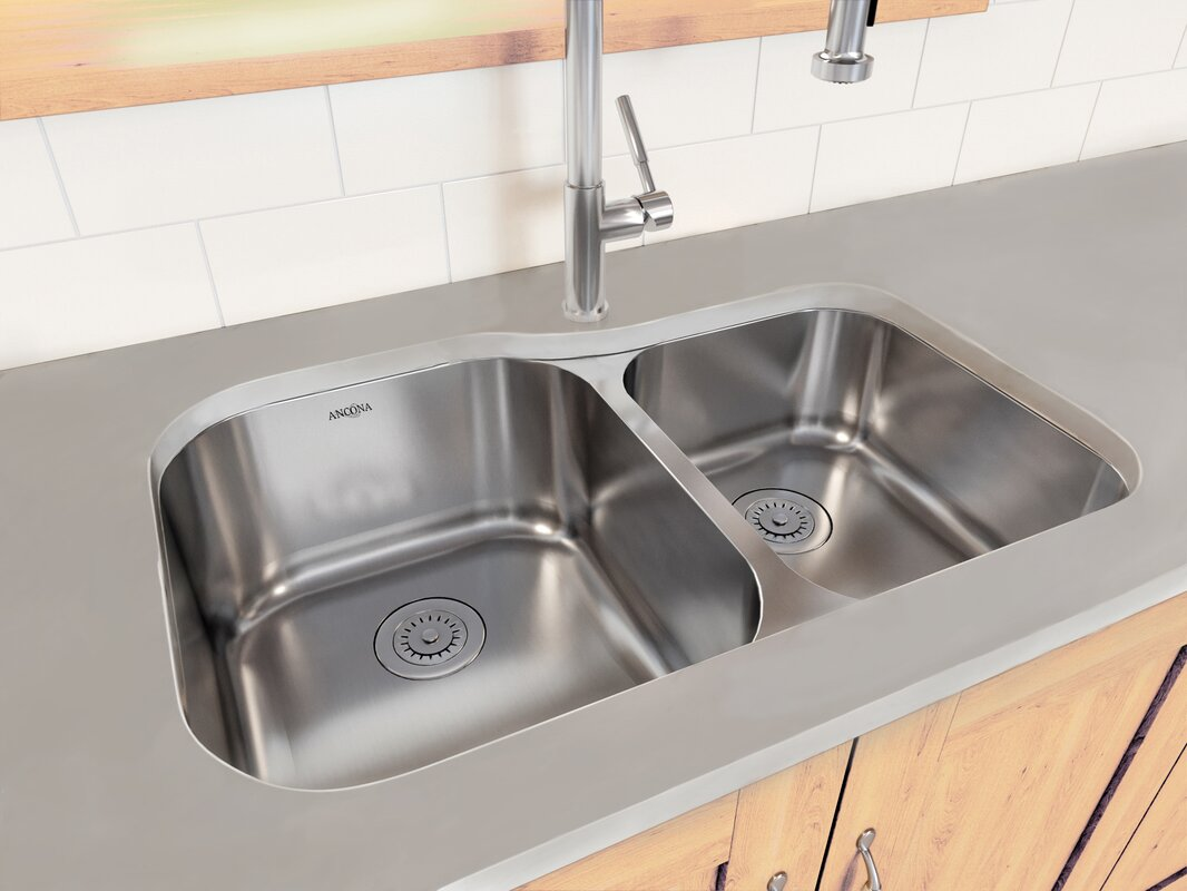 60 40 Kitchen Sink Ancona capri series stainless steel 3175 x 206 6040 double bowl capri series stainless steel 3175 x 206 6040 double bowl undermount kitchen workwithnaturefo