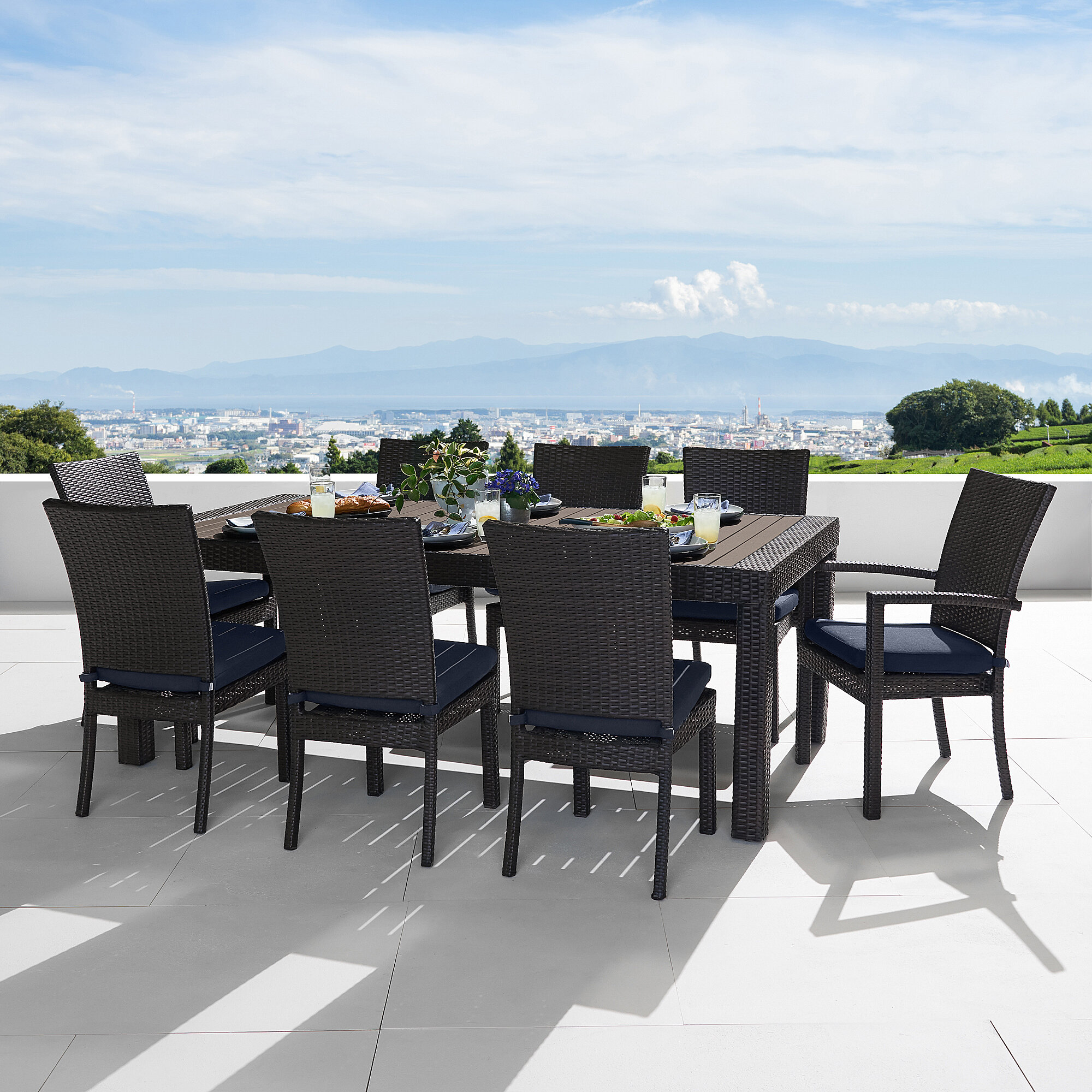 Resin Wicker Outdoor Dining Sets Joss Main