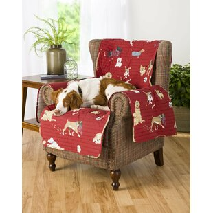 Dog Park Box Cushion Armchair Slipcover