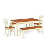 Cleobury 5 - Piece Bar Height Butterfly Leaf Rubberwood Solid Wood Dining Set by August Grove®