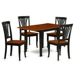 Maery Drop Leaf Solid Wood Dining Set by Winston Porter