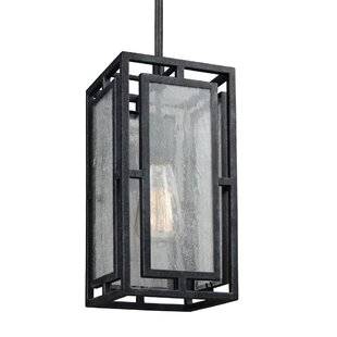 Hudson 1-Light Square/Rectangle Pendant by 17 Stories