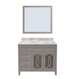 Read Reviews Margaret Garden 42 Single Bathroom Vanity with Mirror ByNGY Stone & Cabinet