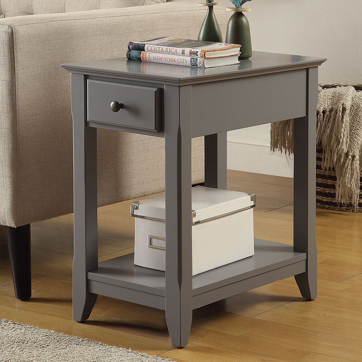 Picture of: Grey End Side Tables You Ll Love In 2020 Wayfair