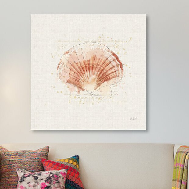 East Urban Home Shell Collector Iv Graphic Art Print On Wrapped Canvas Wayfair