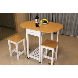 Sophie 3 Piece Kitchen Island Set by August Grove