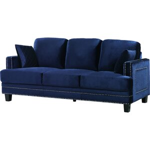 Dia Modern Nailhead Sofa