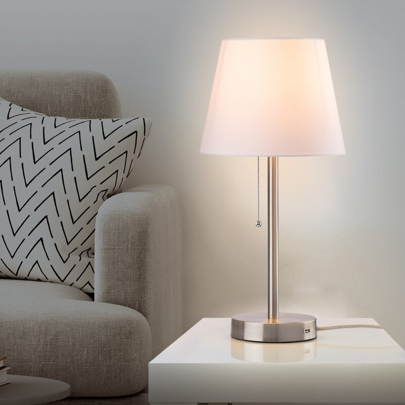 Charlton Home West Broadway Table Lamp with USB