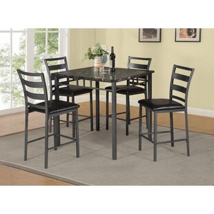 Beringer 5 Piece Counter Height Dining Set